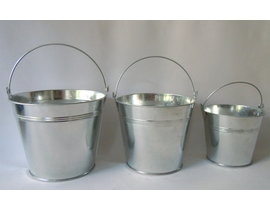 Cubo zinc natural 12xH10.5