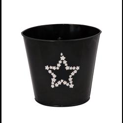 Metal Star 16x15cm Negro