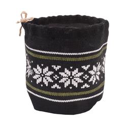 Bag tricot 16x17cm Negro