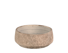 Bowl grea 24x12cm taupe