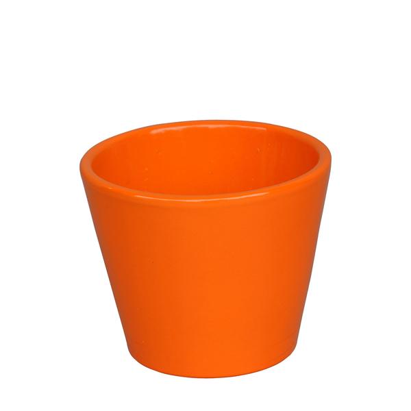 Vaso cactus 9x9cm naranja