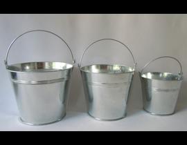 Cubo zinc natural 9x6.5